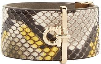 Salvatore Ferragamo Python Cuff Bracelet