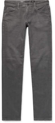 AG Jeans Tellis Slim-Fit Washed Stretch-Denim Jeans - Dark gray