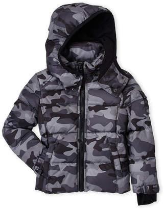 S13 (Toddler Boys) Grey Camo Downhill Down Jacket