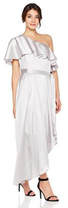Cambridge Silversmiths The Collection Women's Soft Satin One Shoulder High & Low Dress