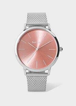 Paul Smith Special Edition 38mm Light Pink And Stainless Steel 'Ma' Watch