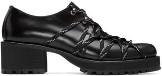 Yohji Yamamoto Black Lace-Up Heels $1,220 thestylecure.com
