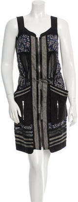 Mulberry Eyelet Panel Printed Dress $130 thestylecure.com