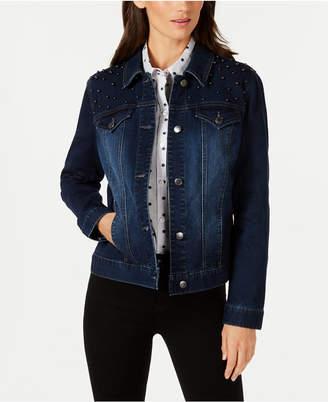 Charter Club Embellished Denim Jacket