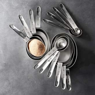 Nest Williams Sonoma Stainless-Steel Nesting Measuring Cups & Spoons Sets