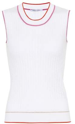 Agnona Sleeveless silk and cotton top