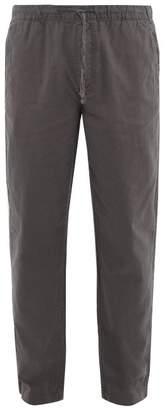 Onia Carter Linen Blend Poplin Trousers - Mens - Grey