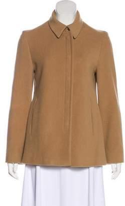Calvin Klein Pointed Collar Virgin Wool-Blend Jacket