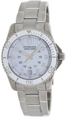 Victorinox Maverick GS White Dial Stainless Steel Ladies Watch 249051