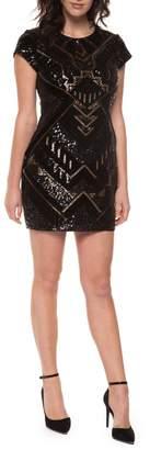 Dex Sequin Velvet Dress