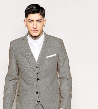 Heart & Dagger Houndstooth Suit Jacket in Super Skinny Fit