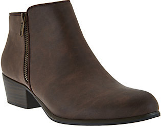 Esprit Two Zipper Ankle Booties - Torie-E $15.23 thestylecure.com