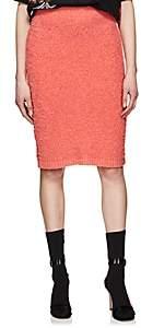 Prada Women's Cotton-Alpaca Bouclé Pencil Skirt-Orange