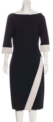 Chiara Boni Long Sleeve Midi Dress