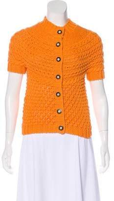 Rena Lange Crochet Button-Up Cardigan