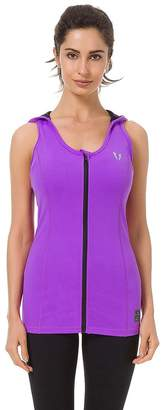 ABS by Allen Schwartz FIRM Sleeveless Workout Hoodie Zip-up Vests Gym Bodybuilding Lifting Tank Tops For Teens