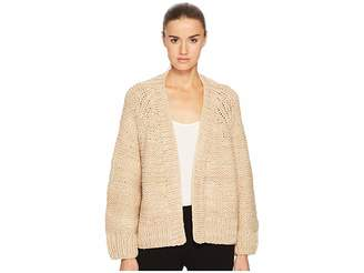 Vince Hand Knit Chunky Cardigan Women's Sweater