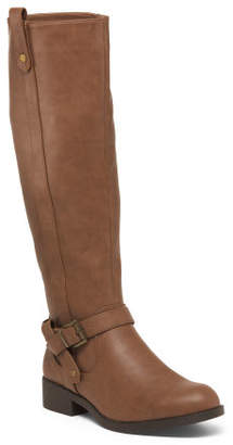 High Shaft Buckle Riding Boots