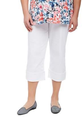 Motherhood Maternity Plus Size Secret Fit Belly Skinny Leg Maternity Crop Pants