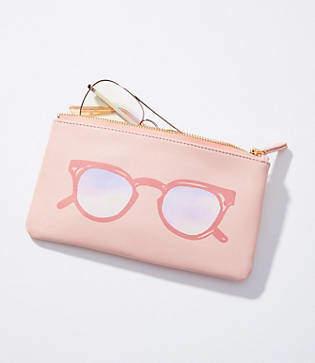 LOFT Shades Zip Sunglasses Case