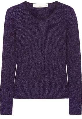 Golden Goose Metallic Ribbed Wool-Blend Sweater