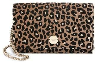 Jimmy Choo Florence Leopard Print Crossbody Bag