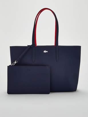 Lacoste Anna Marine/rouge Shopper Tote Bag