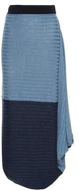 Asymmetrical linen skirt