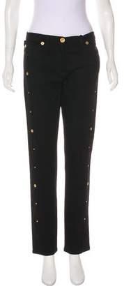Versace Medusa-Embellished Jeans w/ Tags