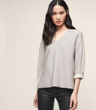 Reiss Julietta Metallic Neoprene-Effect Jumper