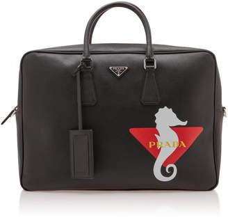 Prada Logo Leather Briefcase