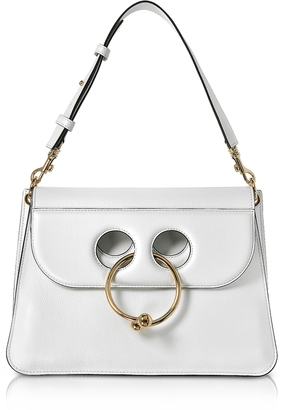 J.W.Anderson White Leather Medium Pierce Bag