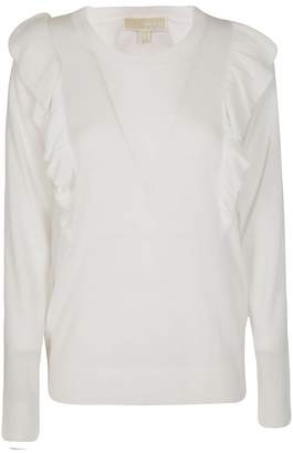 Michael Kors Frilled Fitted Sweater