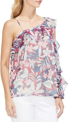 Vince Camuto Tropical Escape Ruffle Sleeve Top