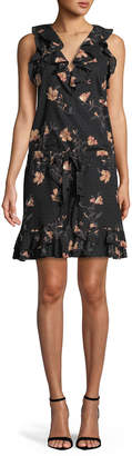 Paige Farfalla V-Neck Sleeveless Floral-Print Cotton Dress