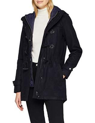 Only Women's Onlcilana Wool Duffle Coat OTW, Blue Night Sky, (Size: Large)