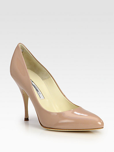 Brian Atwood Starlet Patent Leather Point-Toe Pumps