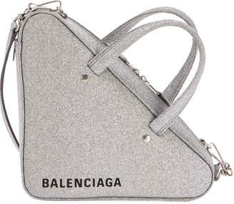 Balenciaga Triangle XS AJ Glitter Leather Duffel Bag