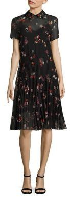 RED ValentinoRED Valentino Pleated Floral Dress
