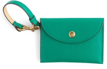 J.crew Leather Coin Purse - Green