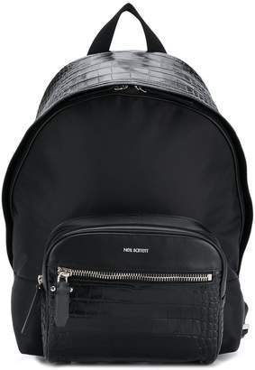 Neil Barrett lizard skin effect backpack