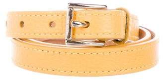MICHAEL Michael Kors Leather Buckle Belt
