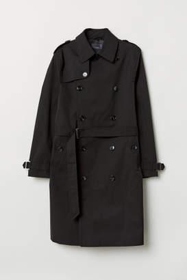 H&M Nylon Trenchcoat - Black