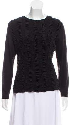 Akris Ruched Cashmere Top