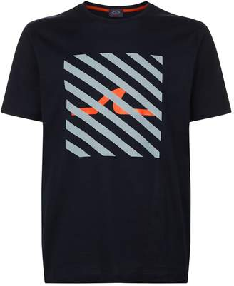 Paul & Shark Stripe Box Logo T-Shirt