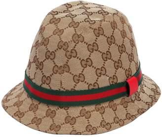 Gucci Gg Supreme Logo Cotton Bucket Hat