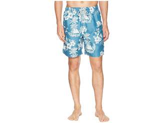 True Grit Waterman Outrigger Drawstring Swim Boardshorts w/ Mesh Lining Men's Swimwear