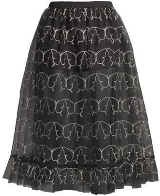 Sandy Liang Ooey Sheer Butterfly Skirt