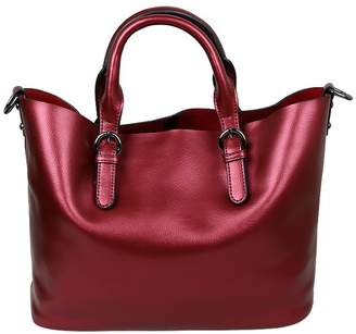 Dean Women Fashion Genuine Cow Leather Shoulder Bags Punk Handbag Purse
