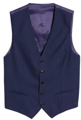 Ted Baker Troy Trim Fit Solid Wool Vest